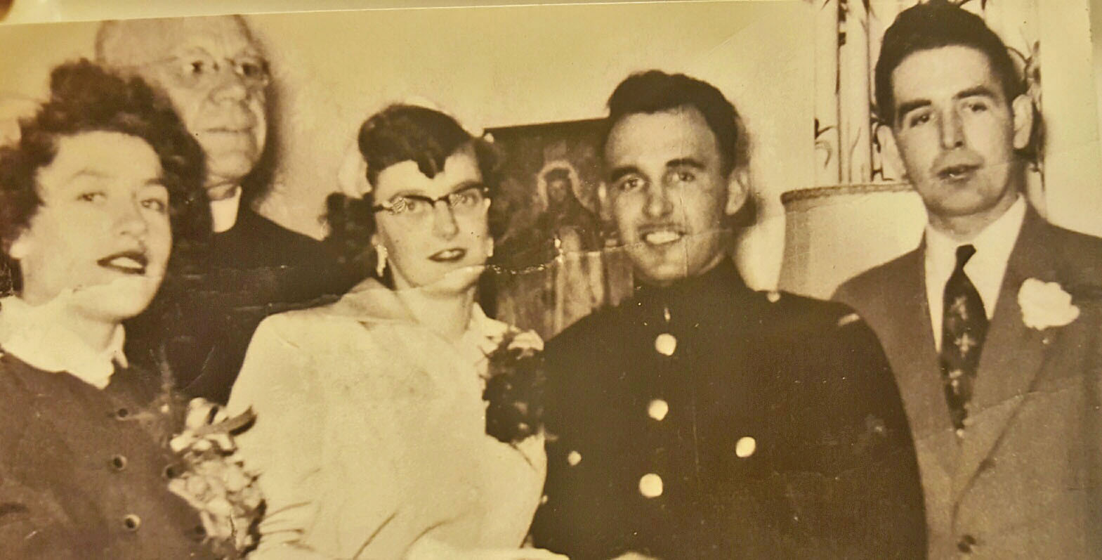 Earl met his wife Elizabeth while working in a canning factory in Wellington, one of several jobs he held down before joining the Canadian military. Photo courtesy the Pearson Family 2016