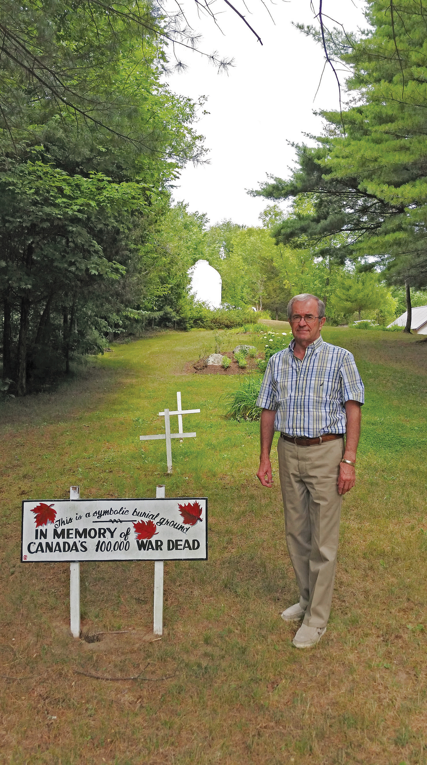 Jim Burns, retired Hastings County educator, is the welcoming host and chair of the Lester B. Pearson Peace Park. Photo courtesy Jim Burns