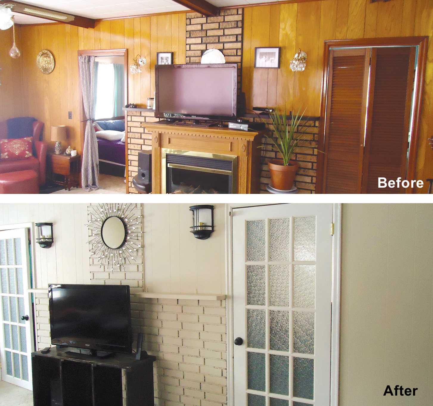 If the budget doesn't allow for large renovations entire rooms can be transformed and given new life with the right paint colours and less expensive changes such as new doors, hardware, lighting and décor.