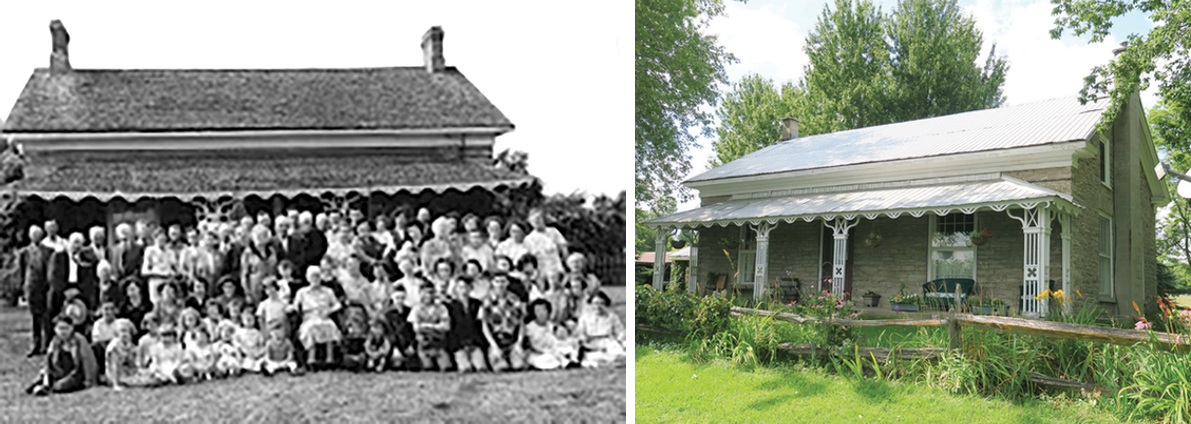 Henry Ostrom Sr. Residence (1854) – Moira. Historic photo courtesy Community Archives of Belleville and Hastings County  (Photos Ostrom House (1) & (3))