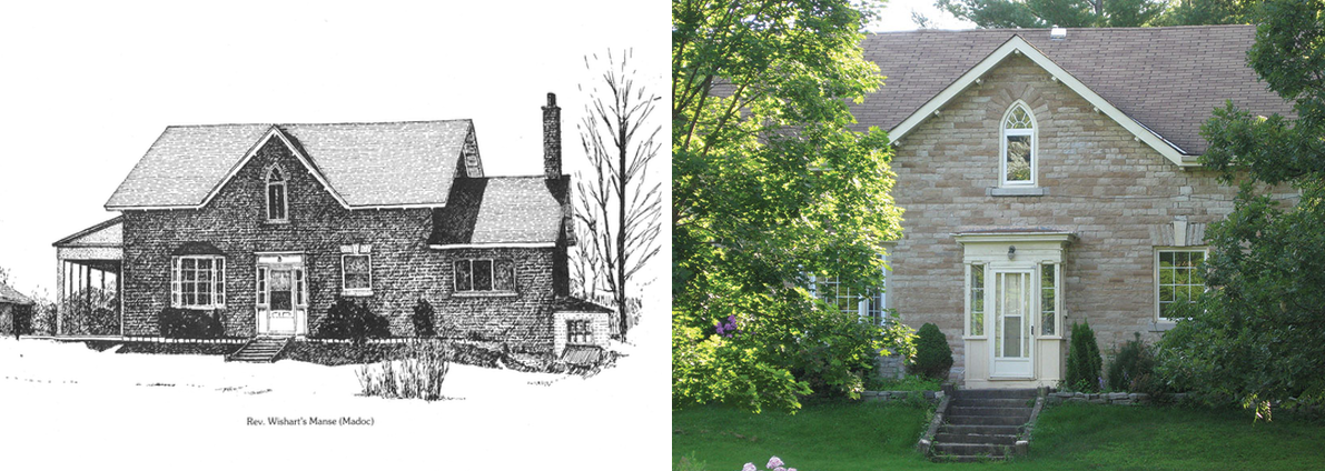 St. Peter's Presbyterian Manse (1864) – Madoc. Historic image courtesy of Darlene Walmsley (Photos Sty. Peter's Manse – Hudson & St. Peter's Manse)