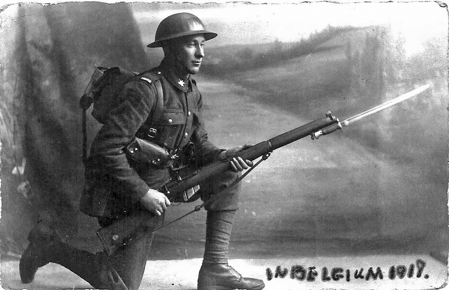 For a young fellow from the Madawaska Valley the European battlefields must have seemed like a different planet but Robert Taylor made it there and back home in one piece. Photo courtesy Barry Penhale Collection