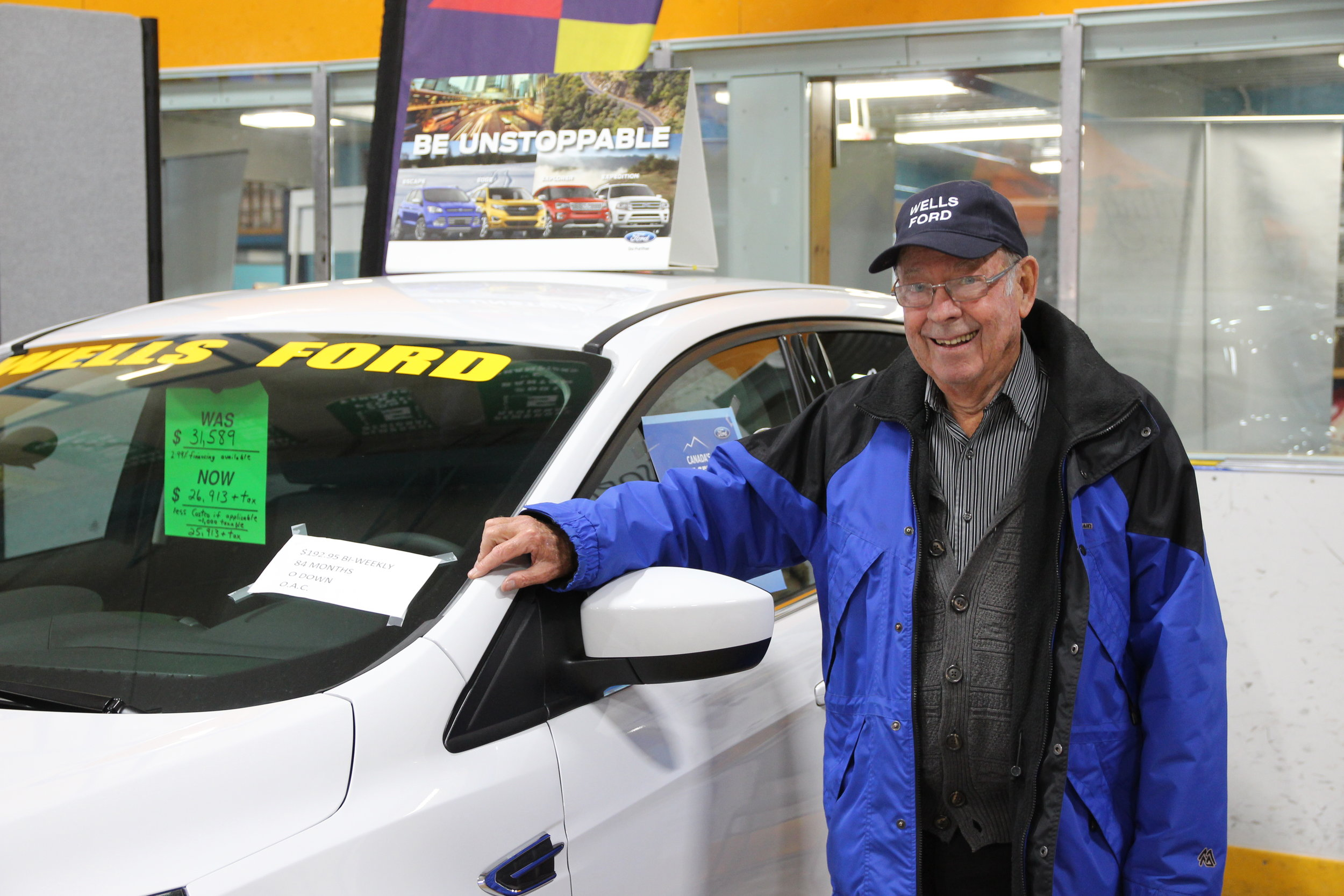 Looking for a new vehicle? Allan wells, representing Wells Ford, will be at the expo.