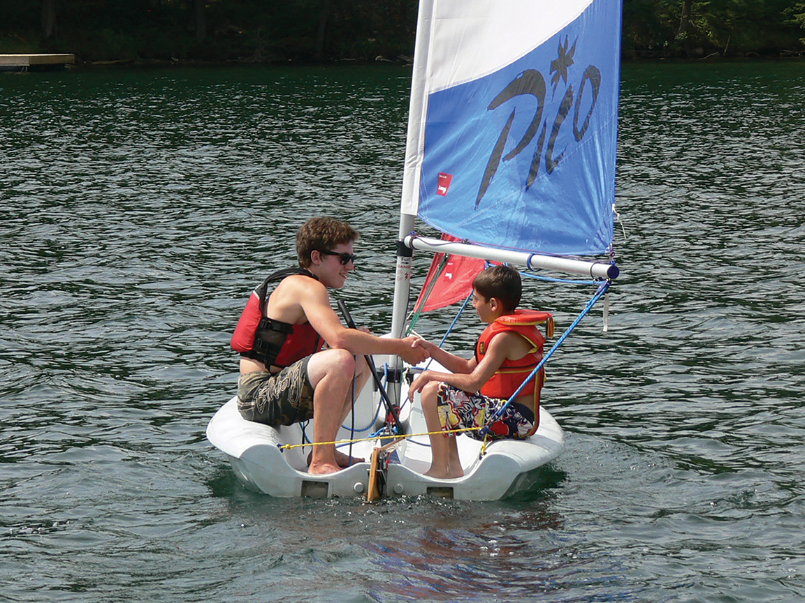 Hastings County is the perfect place to learn how to sail. The many lakes throughout the county are large enough to sail around, but not so large or windy to be intimidating for novice sailors. Photo Courtesy of Cedar Ridge Camp.