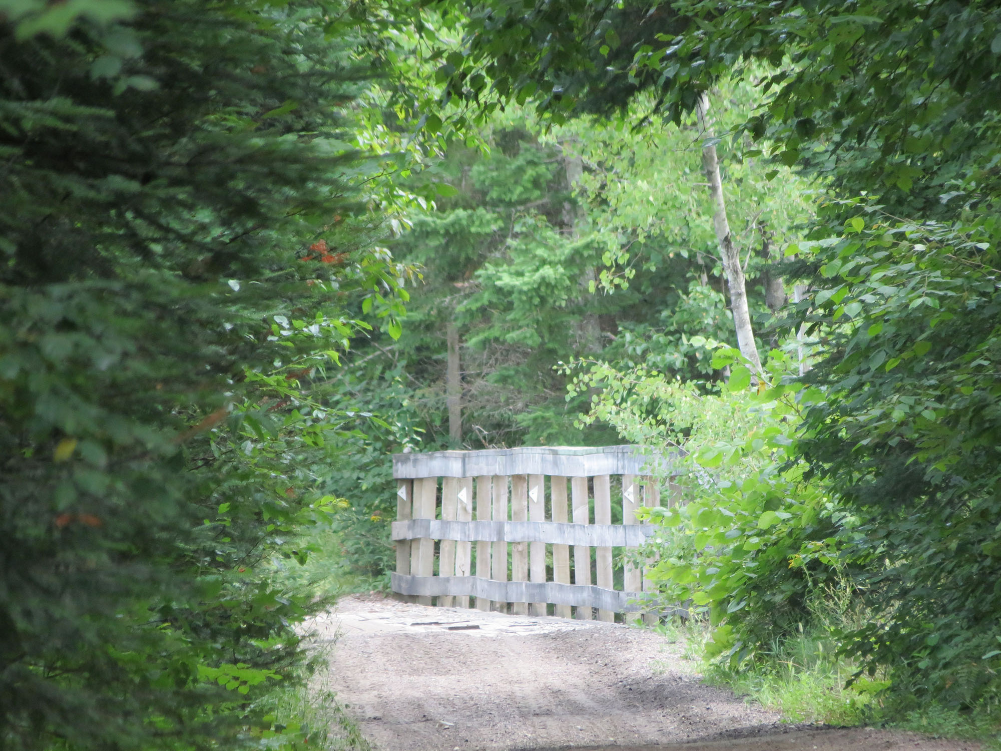 A simple wooden gate opens to a trail through exquisite natural beauty. Photo by Sarah Vance.