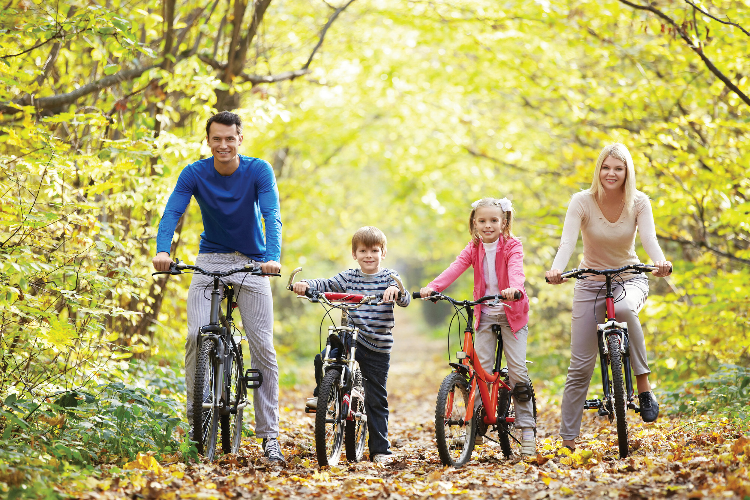 The Heritage Trail is suitable for all ages, and with the added bonus of no traffic, families can relax while they enjoy beautiful autumn colours while cycling at their leisure. Photo courtesy Eastern Ontario Trails Alliance.