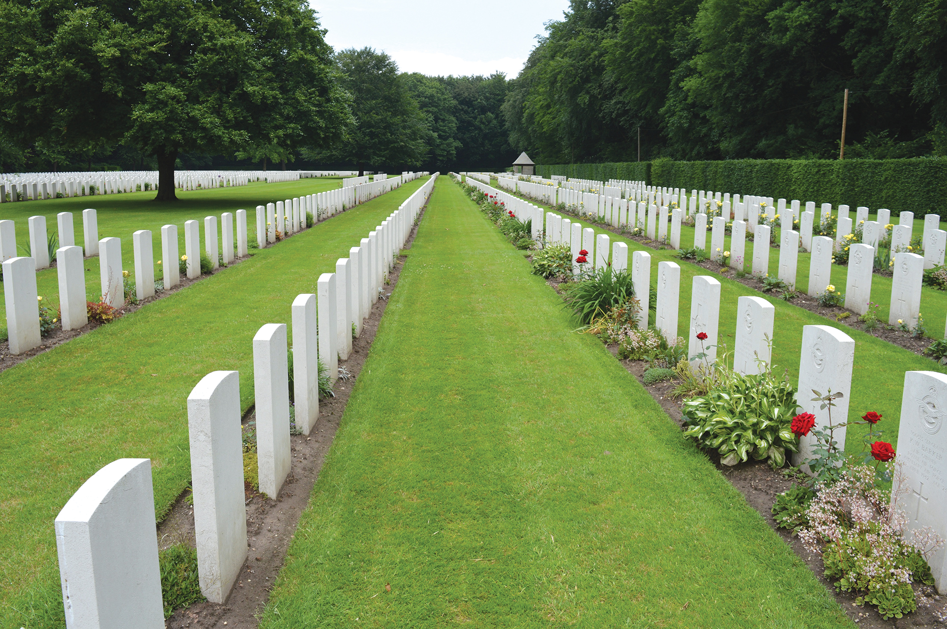 """After being exhumed and relocated three times, Bonter finally rests in the Reichswald Military cemetery near Kleve. """"Somehow I always imagined I should fear death. … Now I have not the slightest fear. … I have never learned to hate the enemy. I fail to see any glory in wars. I have seen too many of my friends, some the best types of fellows you could find anywhere in this world, killed."""" Excerpt from Bonter's letter January 1945. Photo courtesy Marmora Historical Society, Bonter family archives. Letter excerpt courtesy of Anne Philpot."""