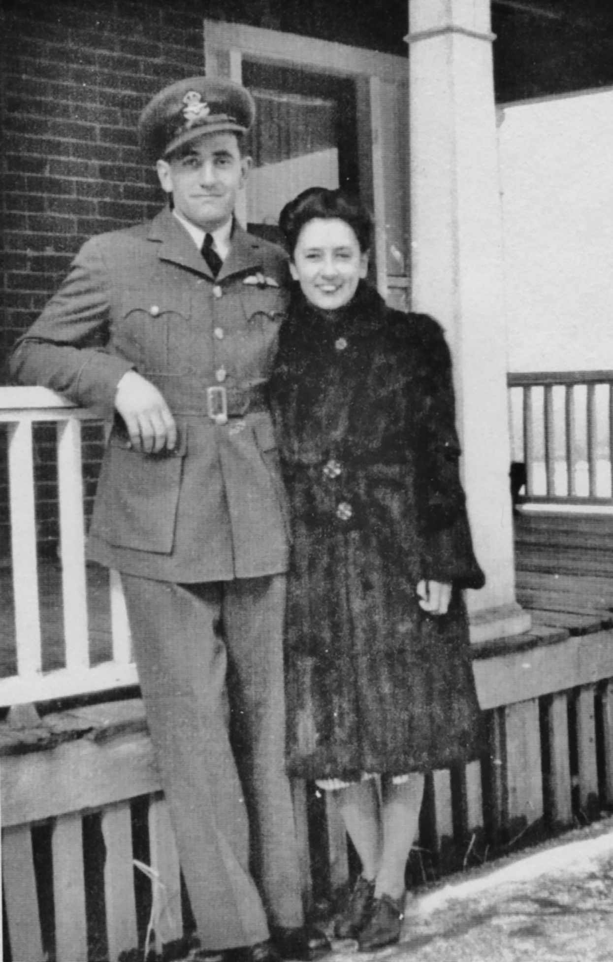 Bonter pictured here with Marion Vincent Barron. Photo courtesy Bonter family archives.