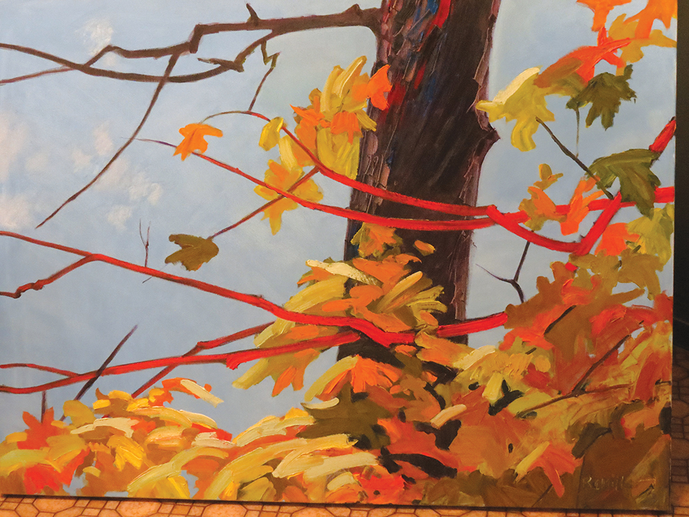 Autumn leaves, painted in  Ormsby, Ont ario in oil.
