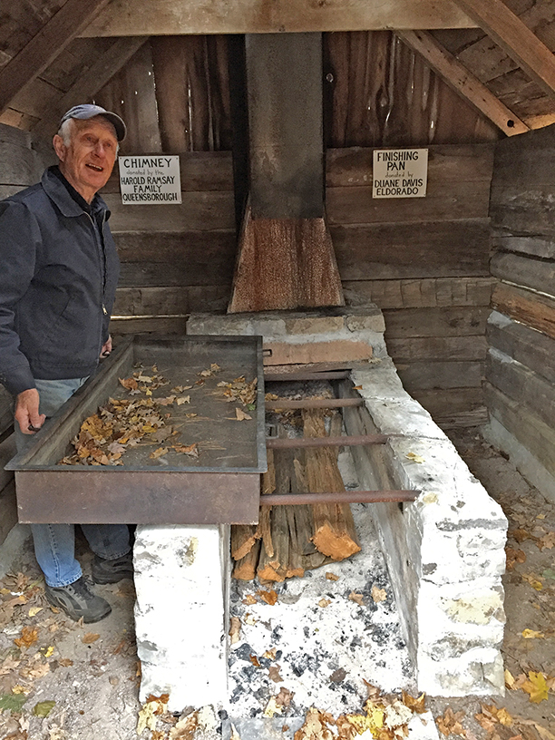 Little, shown above is demonstrating key elements used in making maple syrup. Photo courtesy O'Hara Mill Homestead & Conservation Area.