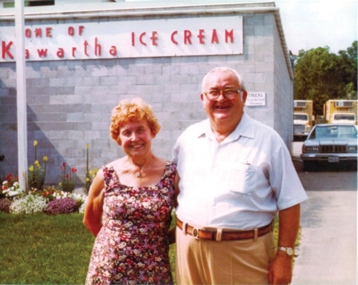 "Jack and Ila Crowe, founders of Kawartha Dairy have established a well-respected ""multi-generational"" business and community legacy. Photo Courtesy Kawartha Dairy."