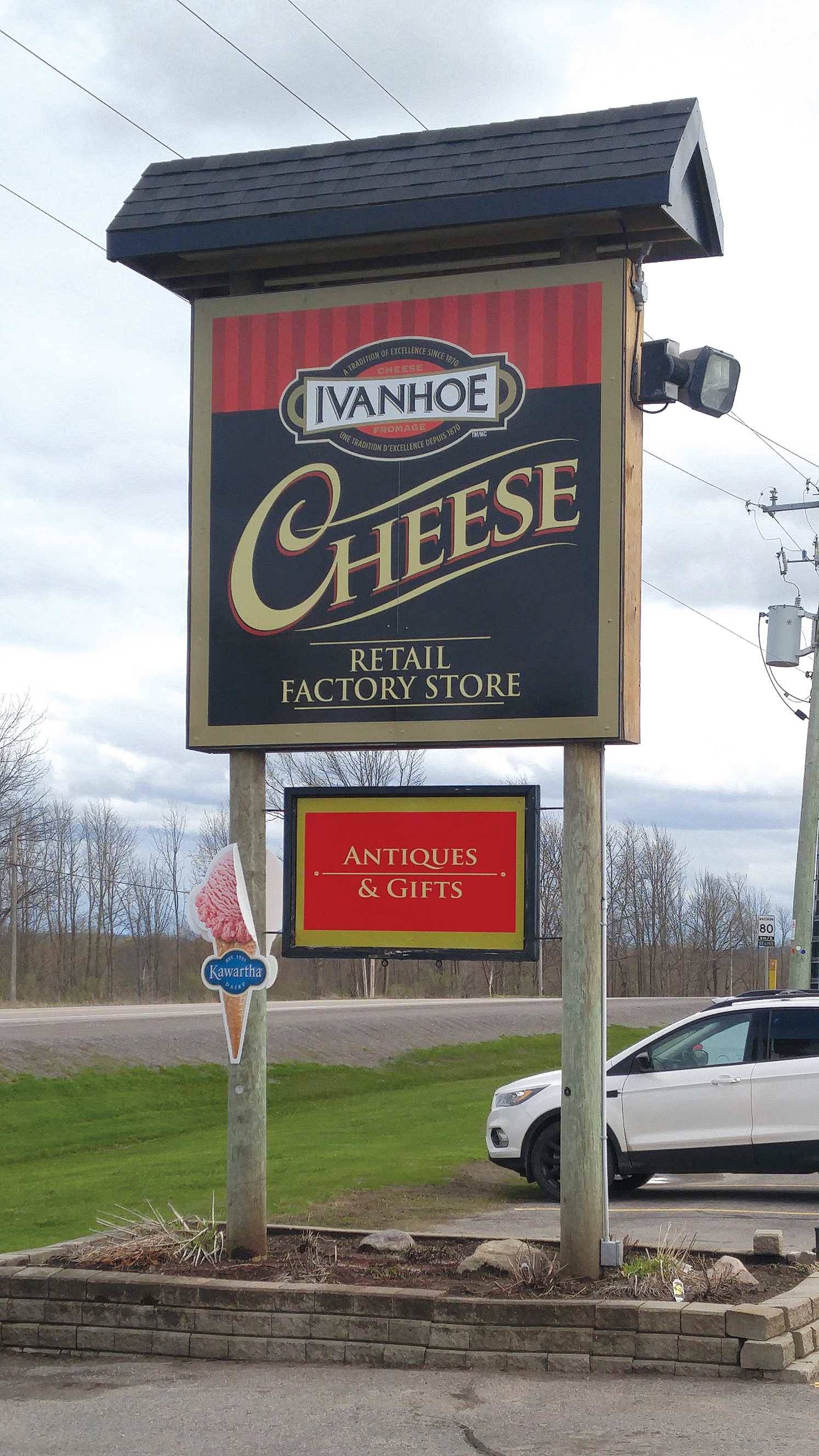 A well-known stop for tourists, cottagers and locals alike, the Ivanhoe Cheese store has been a staple business for the community for more than 150 years. Photo by James Kerr.