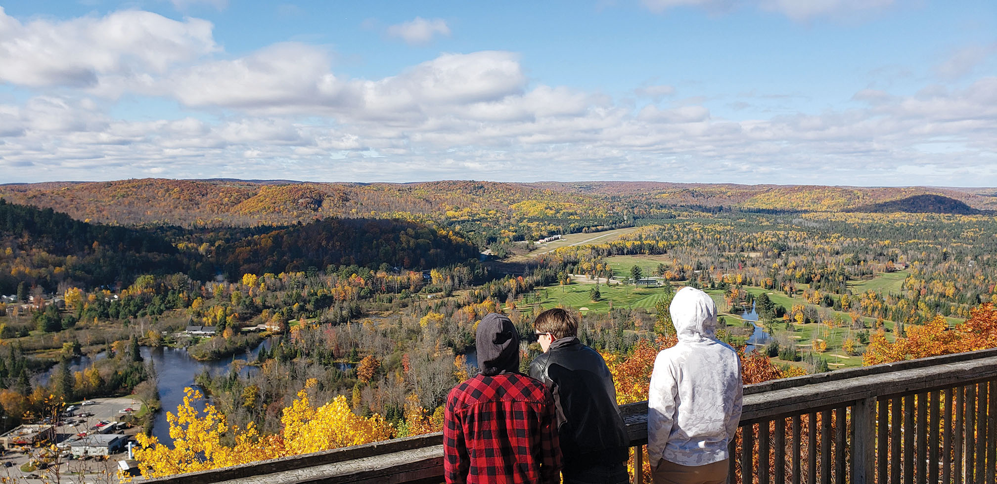 "The effort to walk up hill is well worth the reward of an ""eagle's eye"" view of the magnificent Bancroft landscape. Photo Courtesy Chris Drost."