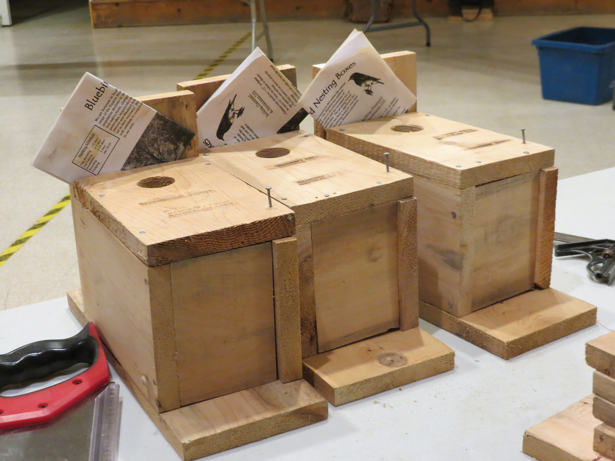 A sample of three finished boxes.