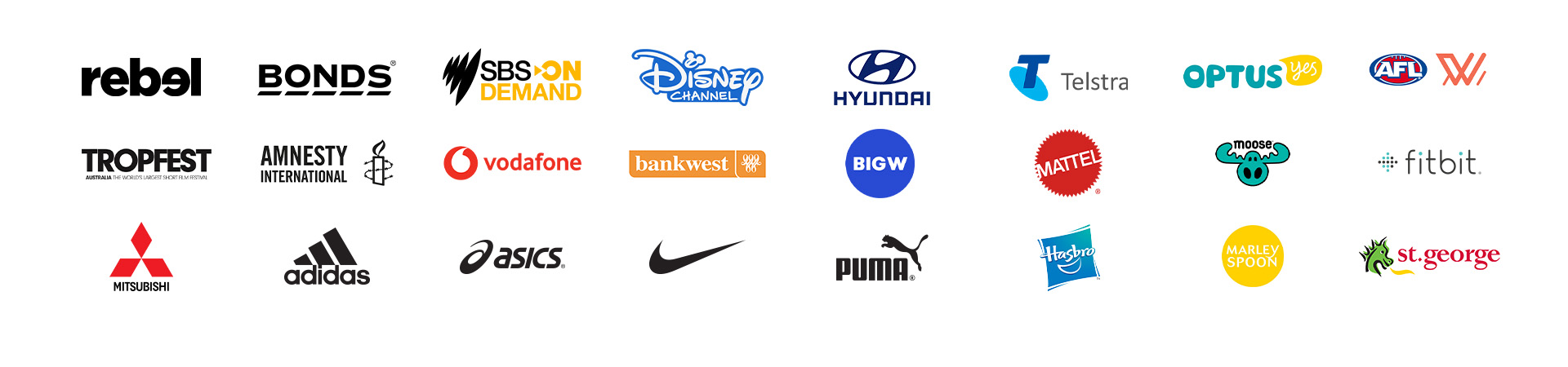 A selection of some of the many clients we have produced work for over the years.