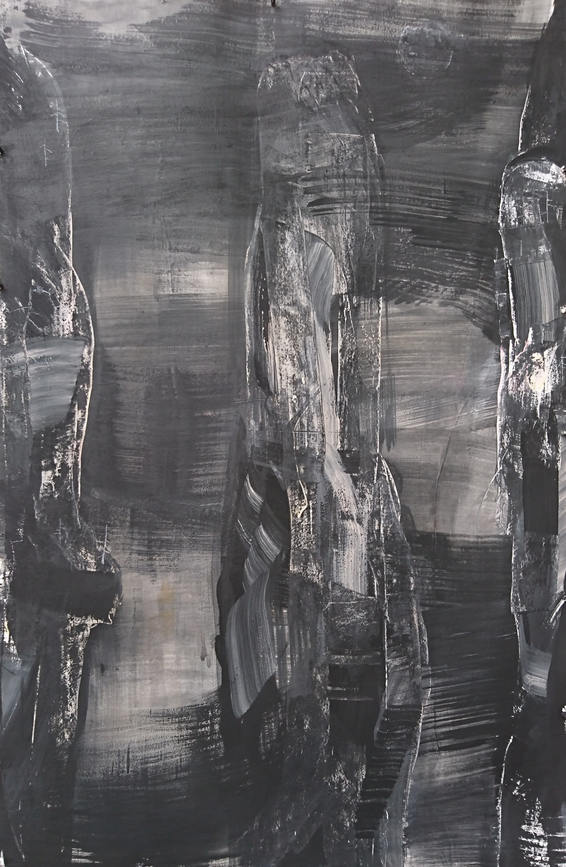 Angus Nivison_Moonrise and mist, Zahnjiajie, 2018, graphite and acrylic on 640 gsm arches, 153cm X 102cm.jpg