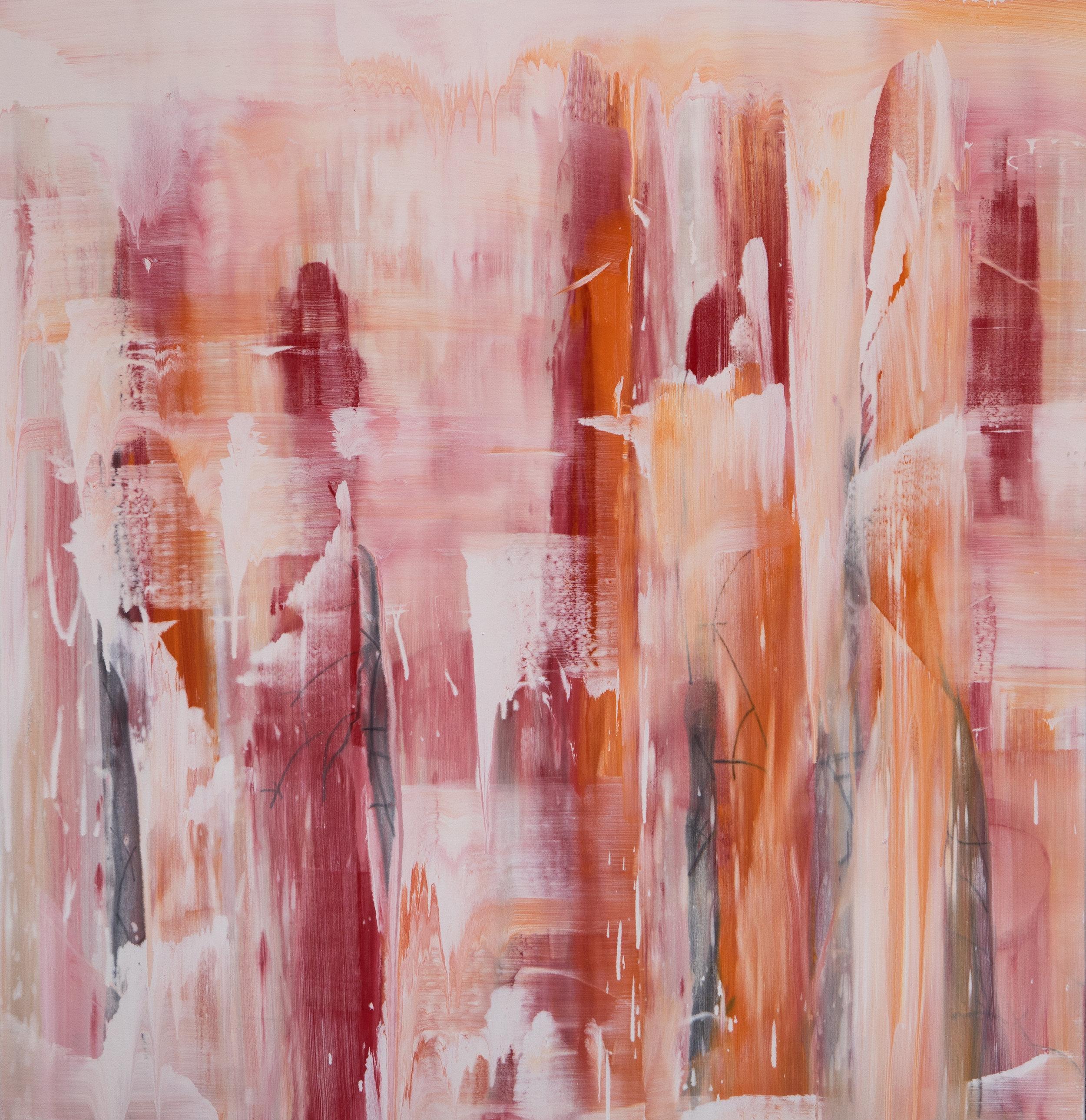 Autumn, Mist - Zahnjiaie, 2018, acrylic pigment on canvas, 155 x 160 cm.jpg