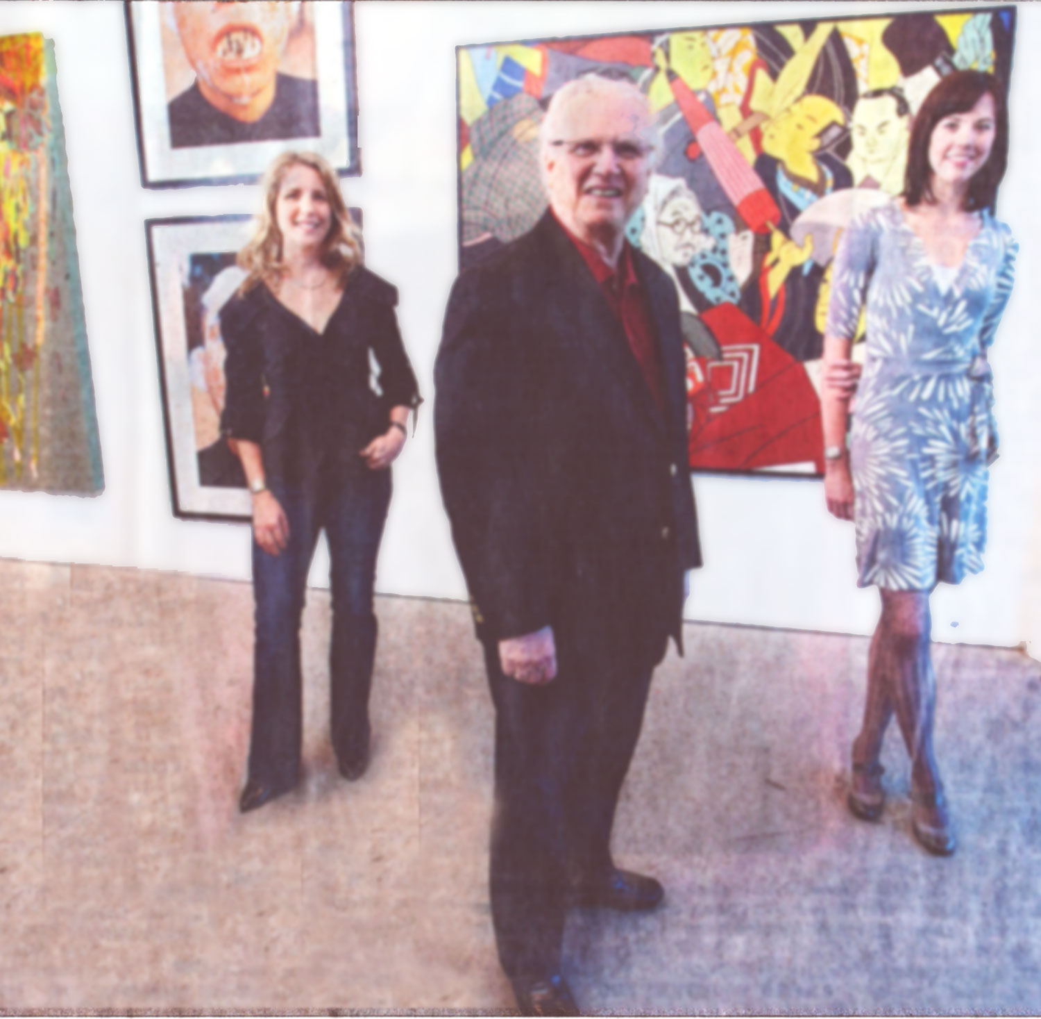 Crossroads gallery owner Byron Cohen and his daughter Toma Wolff (left) will be closing the gallery at 2020 Baltimore and continuing the business online with their new partner Charlotte Matthews (right).