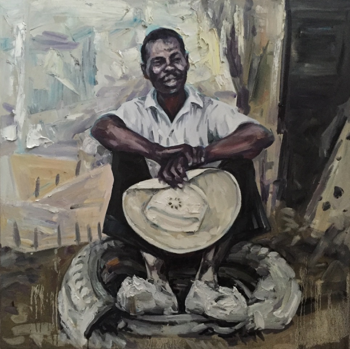 Working Man III, 2016, Oil on canvas, 36x36 Inches