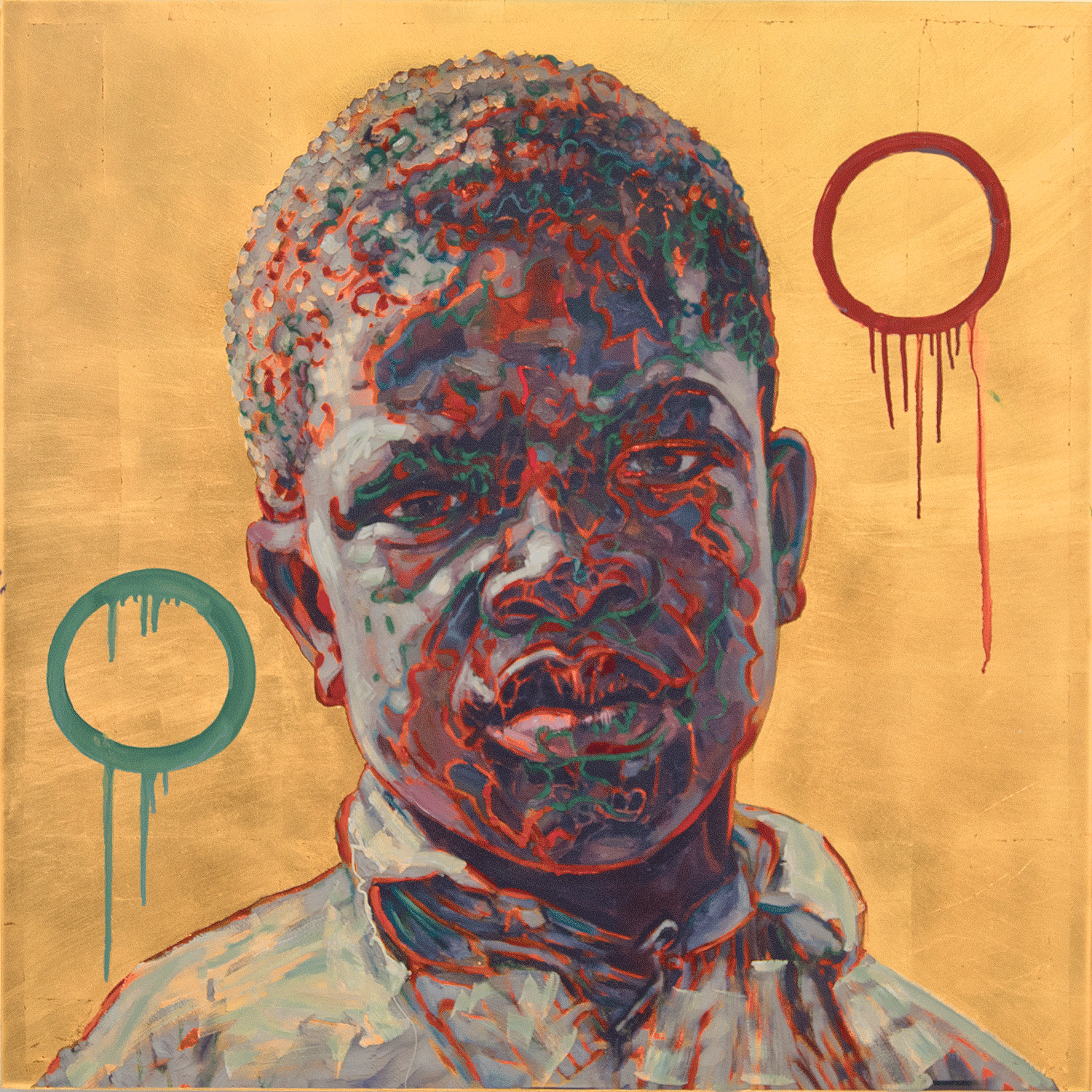 Clarence, 2017, Mixed Media, 36 x 36 Inches