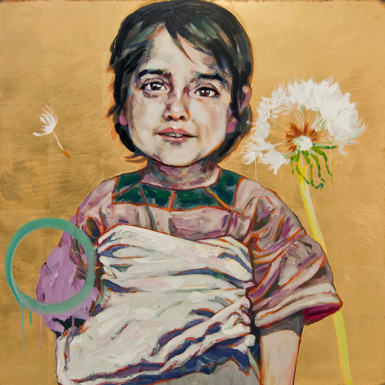 Little Farmhand, 2017, Mixed Media, 41 x 41 Inches