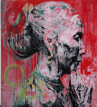 Red Old Woman , 2010, 16 x 16 x 0.75 Inches