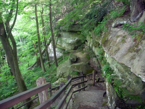 Just one of many trails that McConnells Mills features, image courtesy of google images,    3. Moraine State Park   This park is a perfect one to spend the day or weekend with family and friends. Bike, hike, and boat here, Moraine offers a fantastic view of the water. There are even a couple beaches right by the water that are perfect for tanning & a cookout!