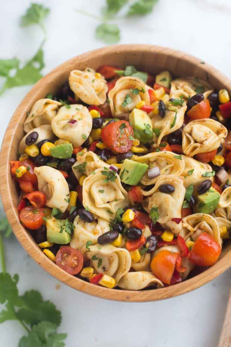 http://tastesbetterfromscratch.com/southwest-tortellini-pasta-salad/
