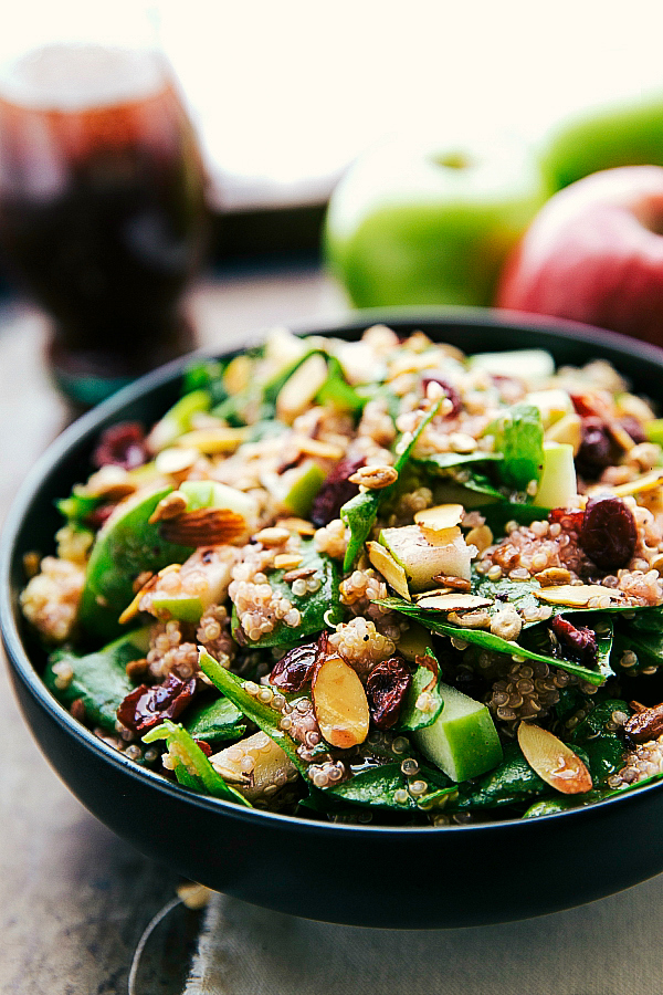 http://www.chelseasmessyapron.com/easy-almond-apple-quinoa-salad/