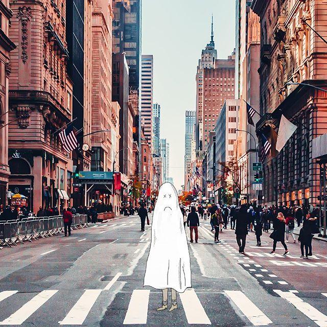 Sunday.  #newyork #sadlife #sadghost #illustration #drawing #art #capitalism #lonely #funart #design #manhattan #laborday