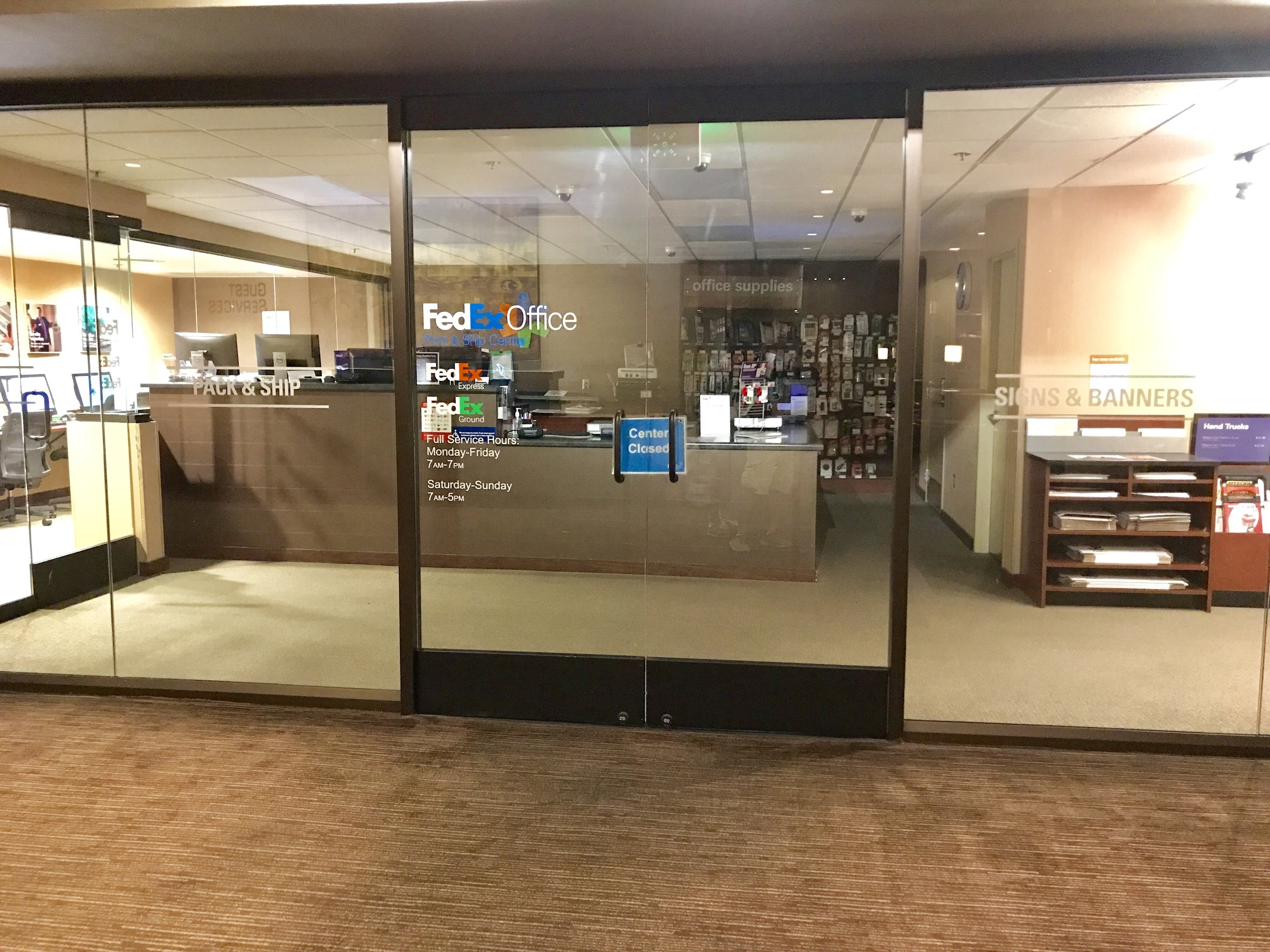 Dont stress with trying to pack all those extra impulse gifts in your luggage. Take advantage of the fedex office shipping center in the lobby.