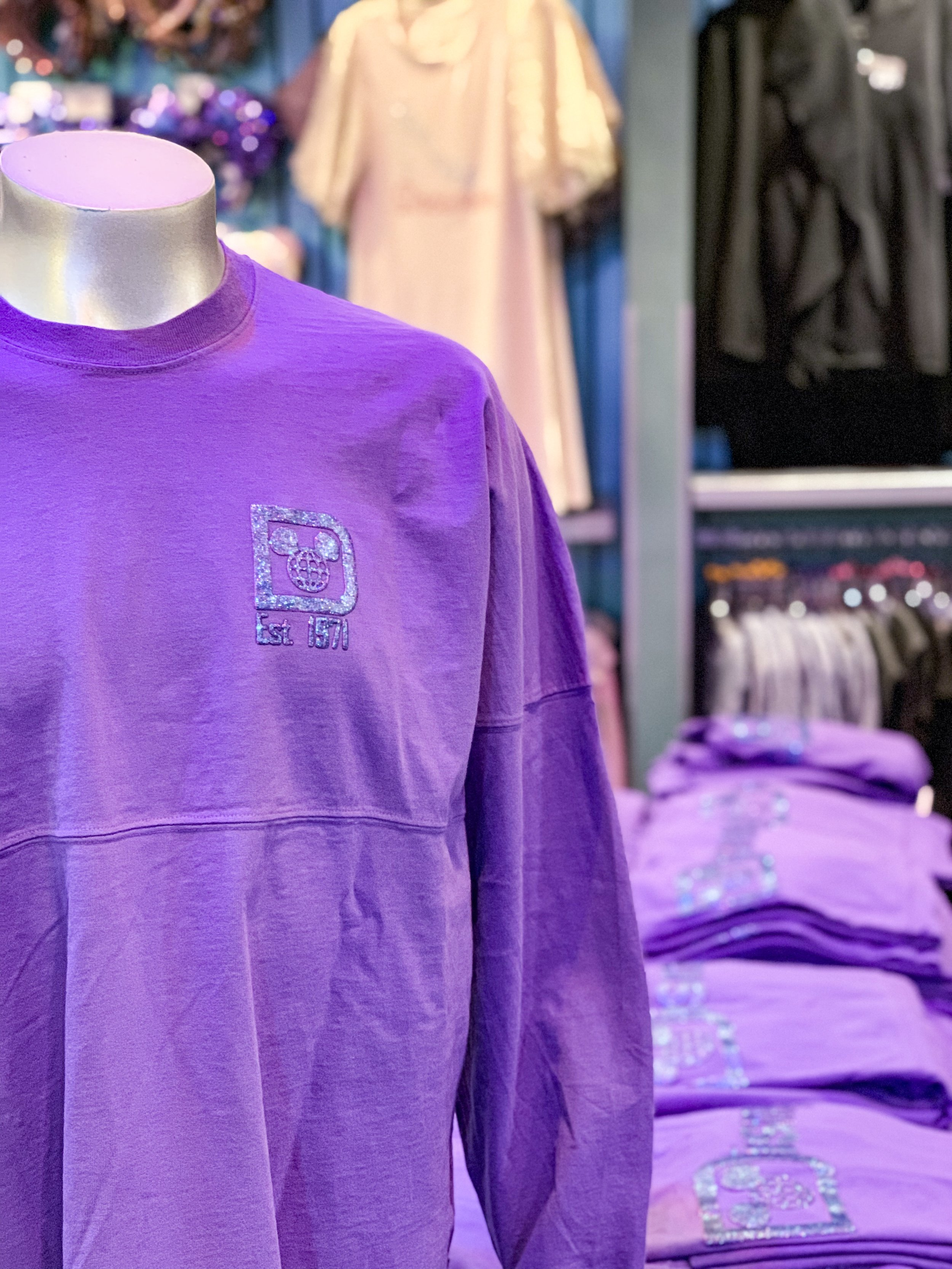 Purple Spirit Jersey  The print is made with a purple iridescent glitter that sparkles in the light!