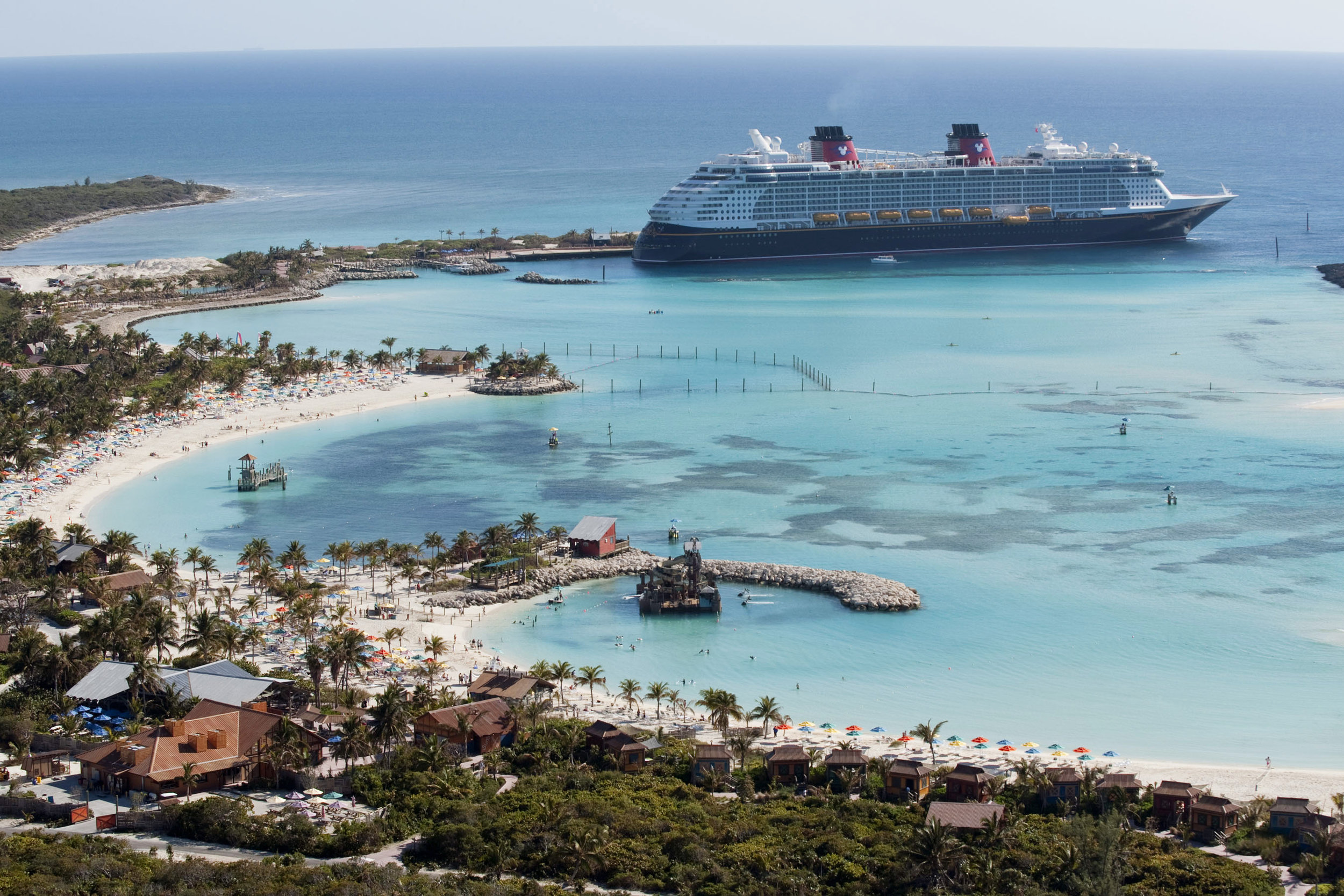 Disney's private island, Castaway Cay in the Bahamas