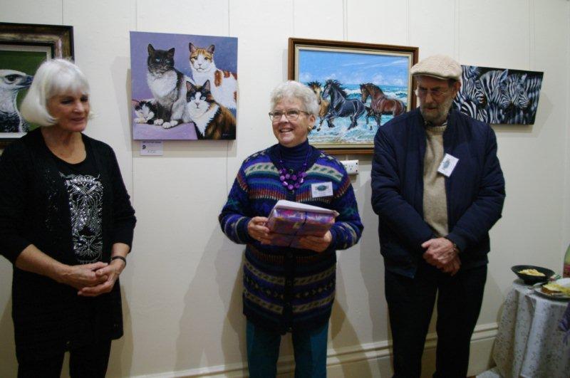Ellen Styne,Carol Clue and Ron Brook