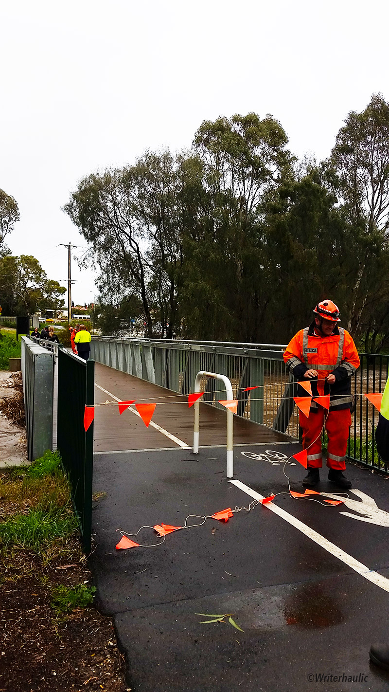 The Clonlea Park footbridge was closed to pedestrians at about 9:30am today