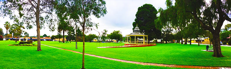 Pioneer Park, corner of Murray Street and Lyndoch Rd