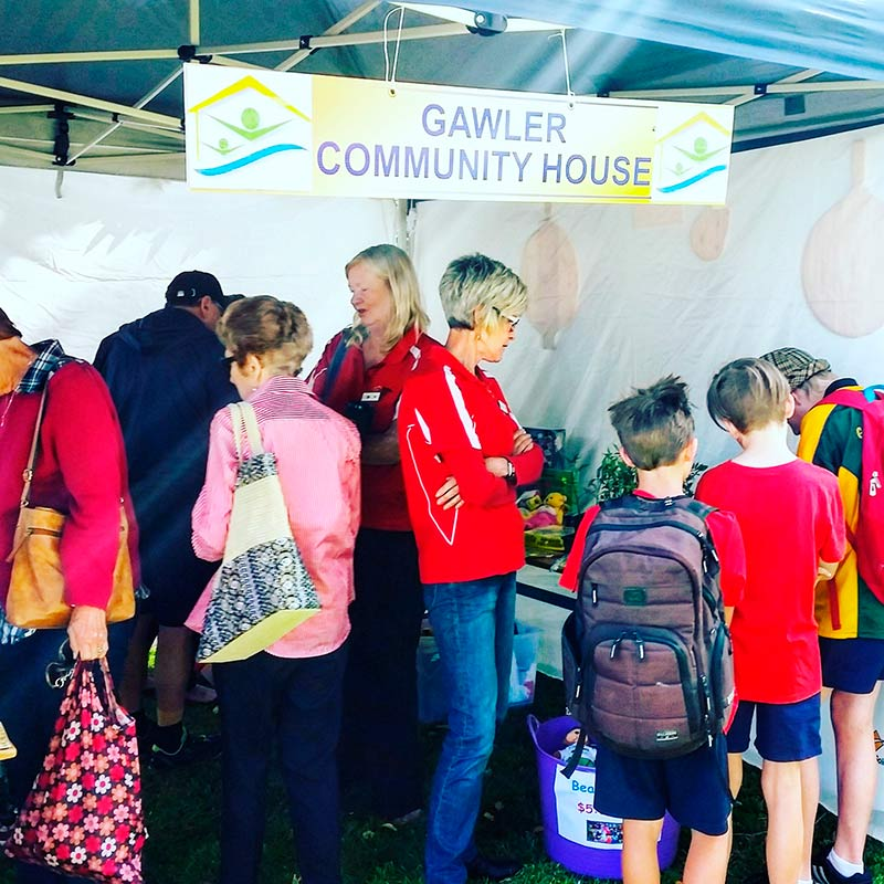 Gawler Community House (the home of the GBA) had a busy stall this morning