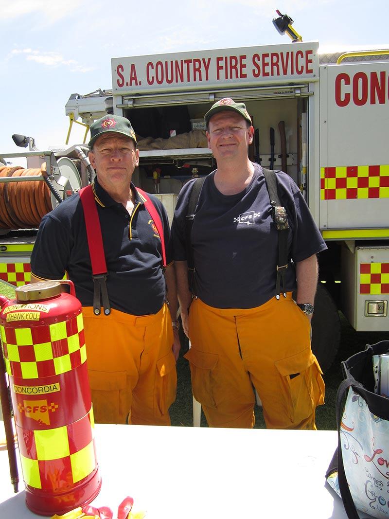 David and David man the truck for the Concordia CFS Brigade