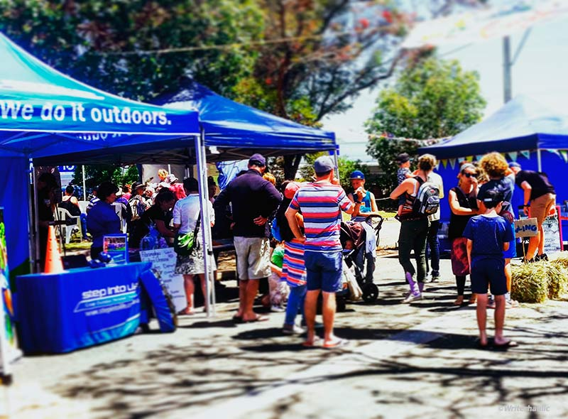 Stalls, stalls and more stalls at the Gawler Sustainable Living Festival