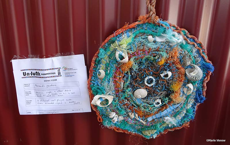 There was lots of great art made from waste as part of the UnJunk Exhibition