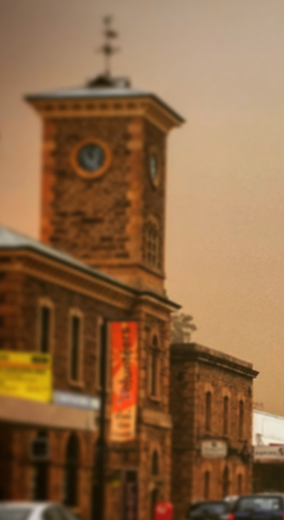 The dust rolled through Gawler after the devastating Pinery fires