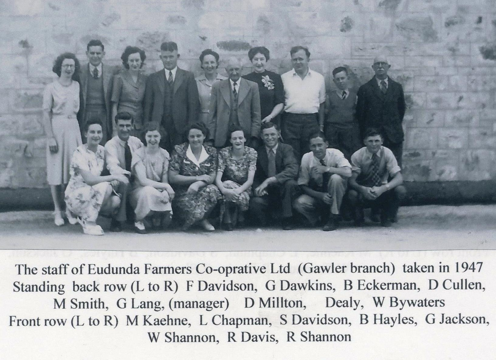 Eudunda Farmers' Staff 1947