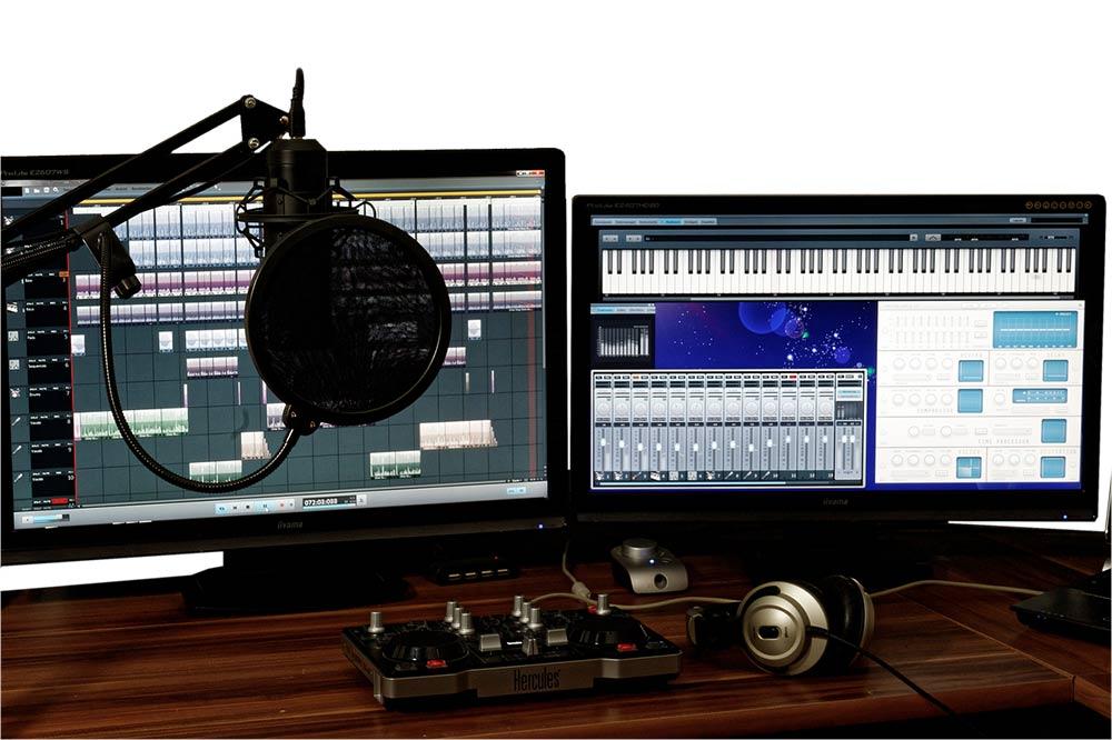 Home audio editing studio