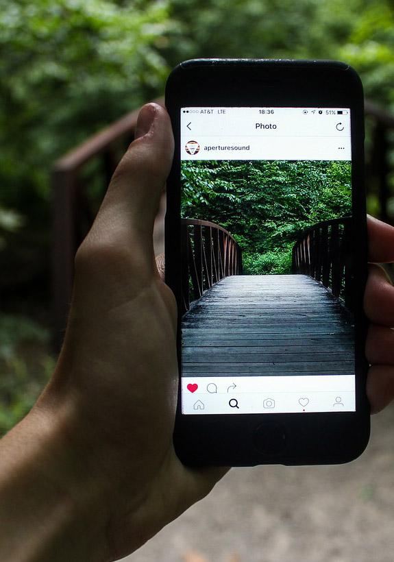 Photo on a smartphone