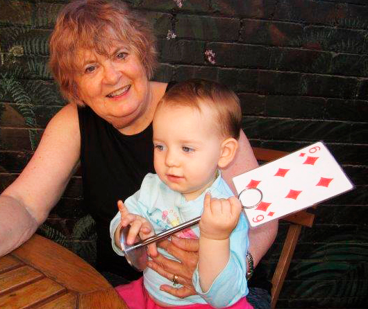 Marilyn Simpson with her youngest Granddaughter