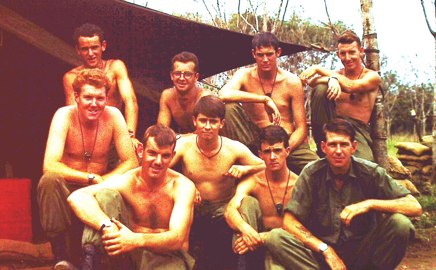 - Wayne Clarke on the left with his Section in Phuoc Tuy Province
