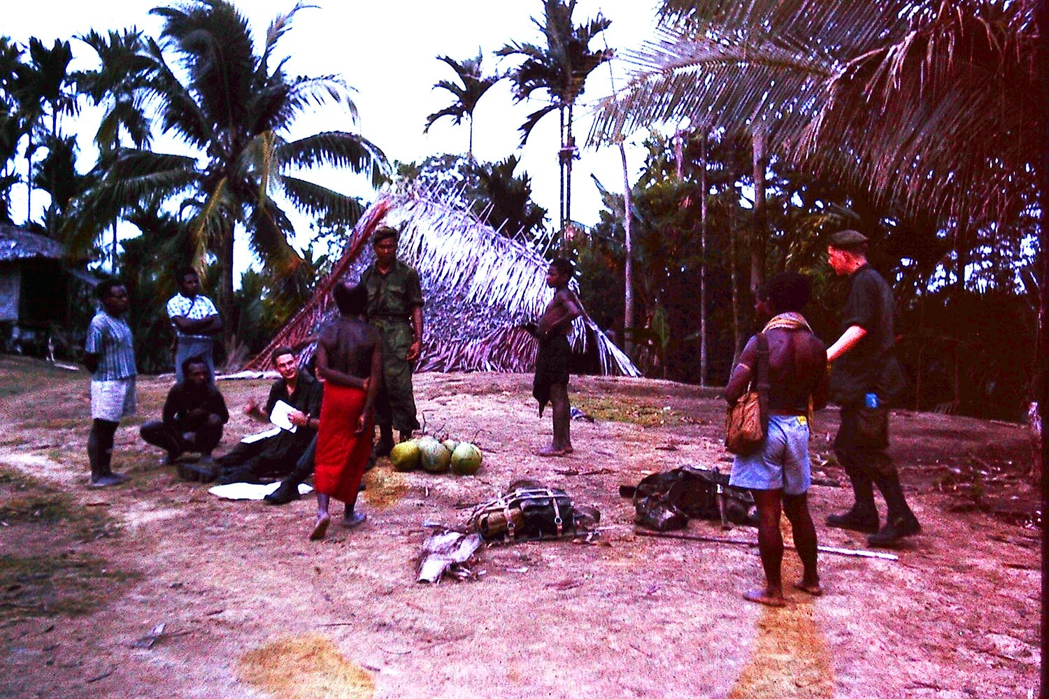 Section in New Guinea Village