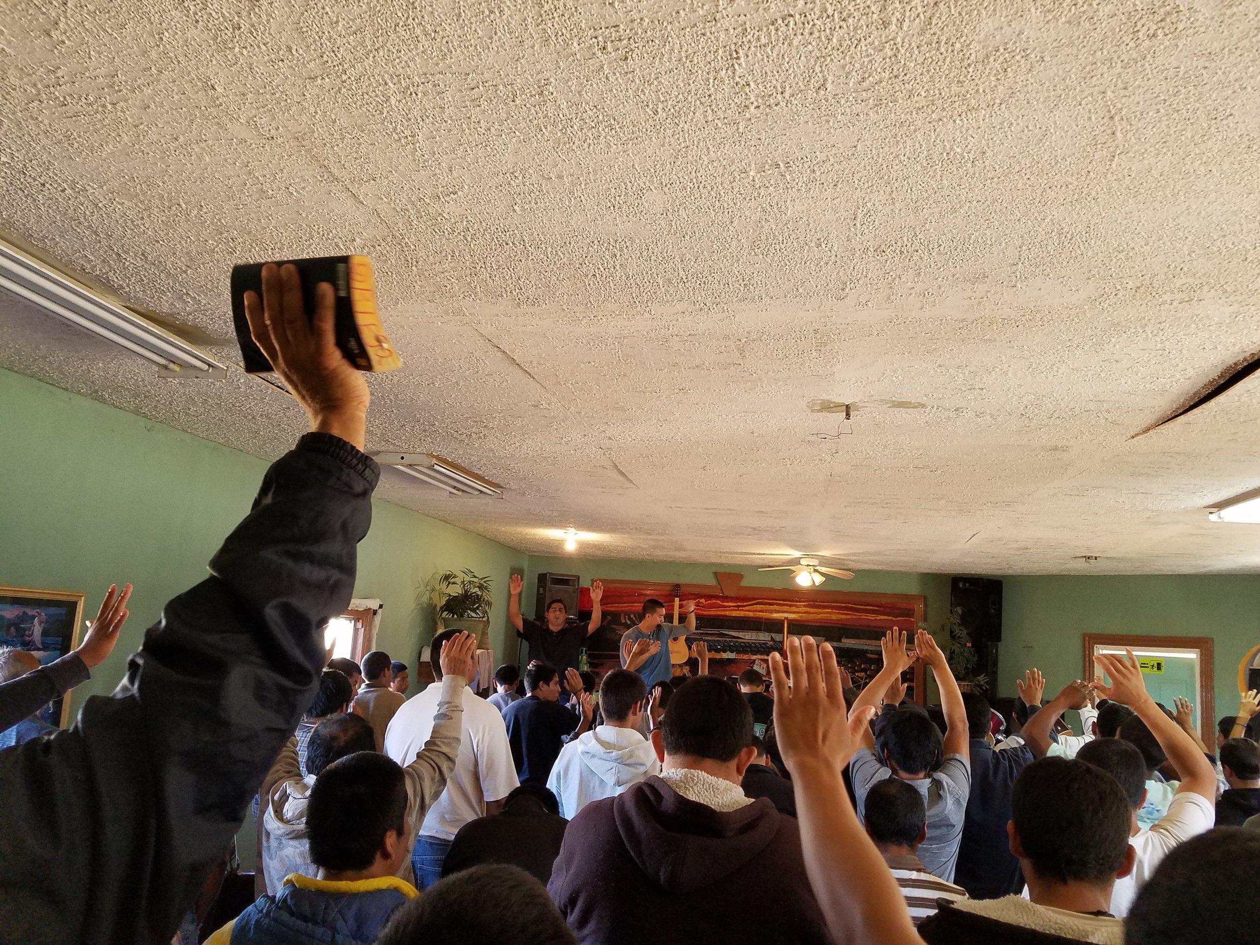 Preaching at Esperanza.