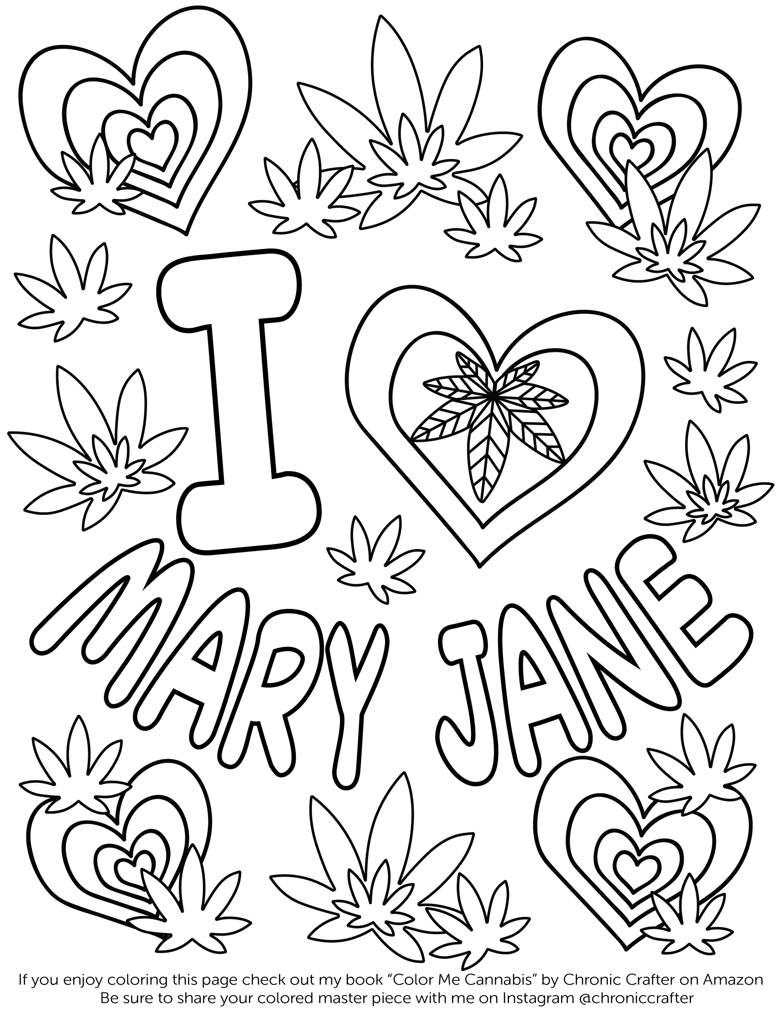 Free Marijuana Coloring Page from Color Me Cannabis