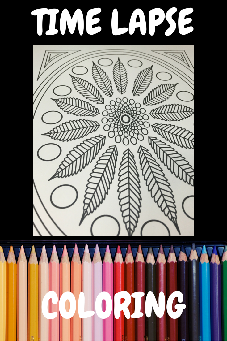 Time Lapse Coloring Adult Stoner from Color Me Cannabis